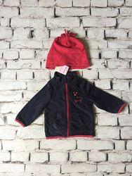 Детский набор худи и шапка флисовый комплект кофта шапочка
