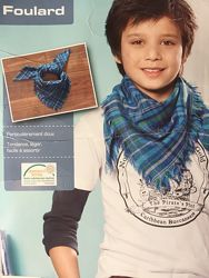 Детский шарф квадратный клетка