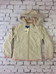 Бежевая куртка подростковая из качетвенной плащевки