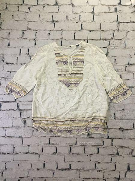 Крутая блуза в этно стиле рубашка модал