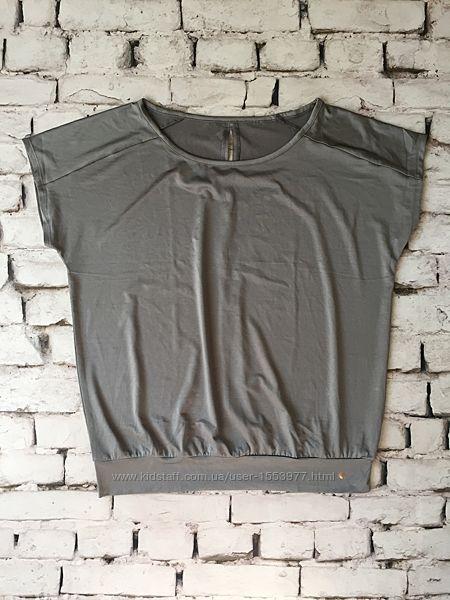 Серебристый кроп топ для спорта футболка