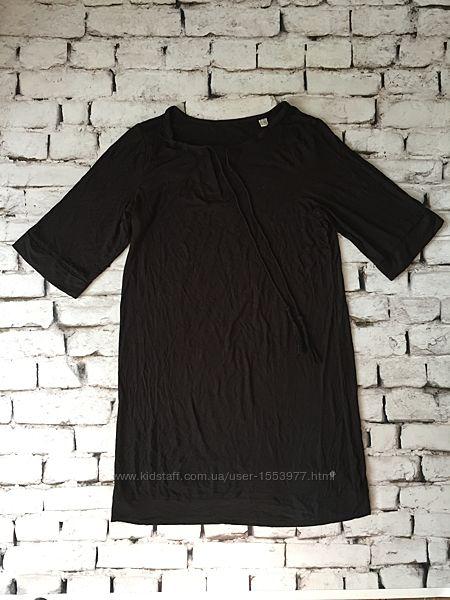 Модное черное платье туника