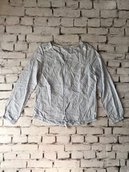 Голубая блуза полоска рубашка
