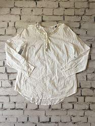 Нарядная рубашка белая блуза уценка