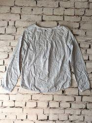Полосатая рубашка хлопковая блузка база