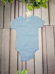 Хлопковый бодик для малыша голубой