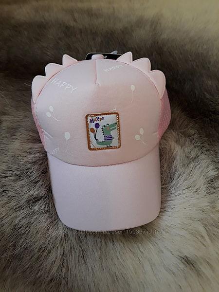 Кепка бейсболка на девочку с ушками розовая