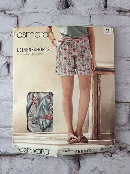 Женские шорты в упаковке esmara лен и хлопок