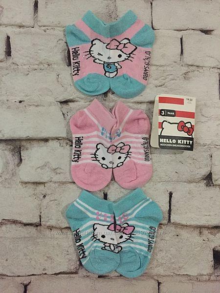Носочки Hello Kitty набор носки 3 пары детские