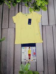 Футболка для девочки желтенькая чистый хлопок