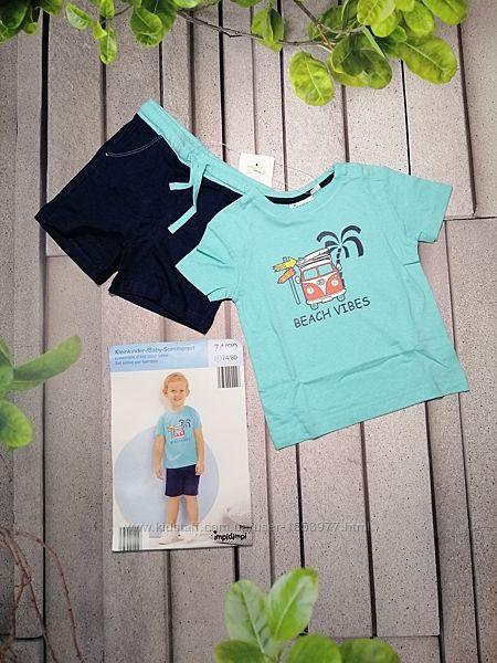 Летний сет для мальчика из футболки и шортиков