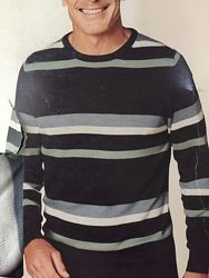 Полосатый свитер мужской пуловер в упаковке L