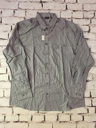 Рубашка мужская сорочка кашемировая серо синяя