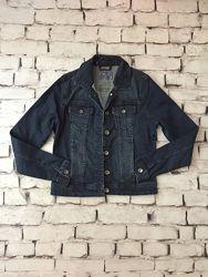 Укороченный пиджак джинсовый жакет женский котон