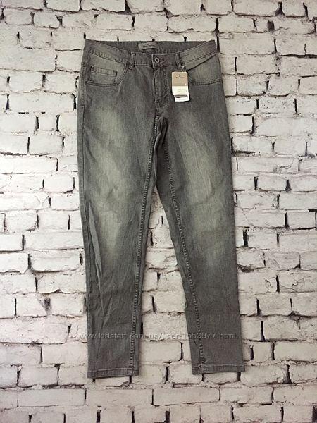 Стрейчевые джинсы серые момсы женские 42