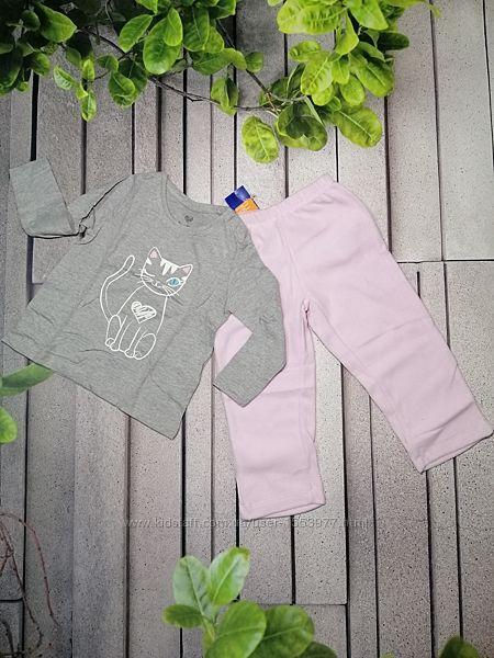 Пижама для девочки с флисовыми брючками