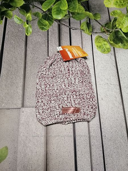 Шапочка бини вязаная с флисовой подкладкой
