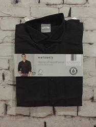 Черная рубашка классическая мужская сорочка био хлопок