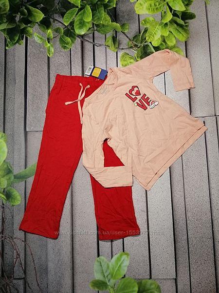 Пижама для девочки лонгслив и брючки комплект