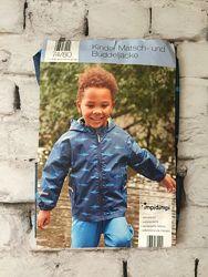 Детская куртка дождевик синяя акула принт непромокаемая курточка