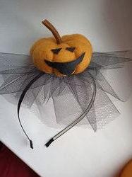 Ободок на праздник Хеллоуин тыква летучая мышь паук шляпка ведьмочки