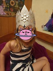 Корона зима снежная королева снежинка