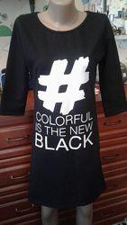 Турция черное утепленное платье м-л