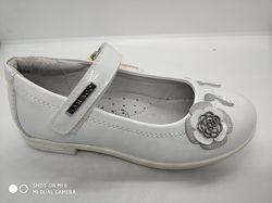 Туфли на девочку белые Flamingo c 27по 30 размеры