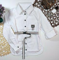 удлиненная рубашка 140-158р