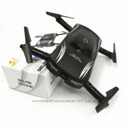 Складной квадрокоптер X185 GW186 селфи дрон с камерой 0. 3Mp WiFi Черный