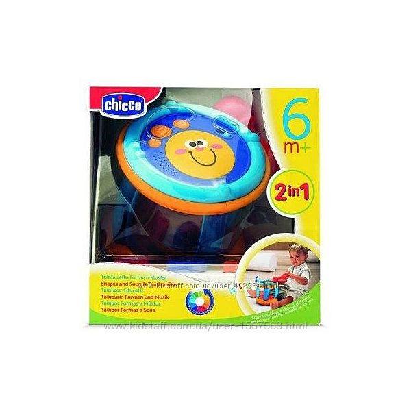Музыкальная игрушка сортер Барабан формы и музыка Chicco  65461