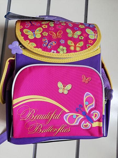 Школьный каркасный рюкзак для девочек бабочки Smile  987918