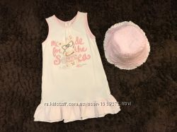 Летний комплект платье - сарафан и двухстороння панама Chicco
