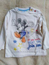 Кофта дисней, Disney реглан на девочку 12-18 месяцев