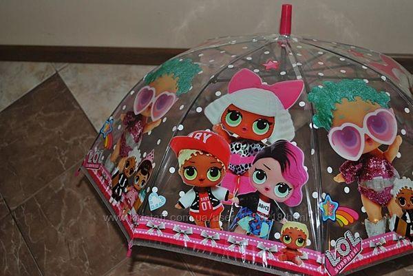 Детский зонт трость силикон прозрачный
