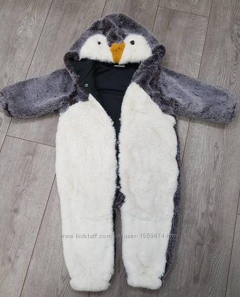 Теплый комбинезон пингвин Next