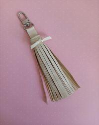 Брелок - кисточка из кожи. Handmade