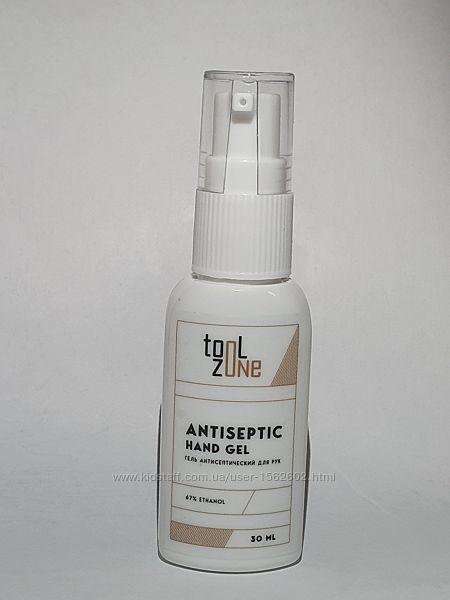 Антисептик для рук гелевый со спиртом Tool Zone, 30мл.