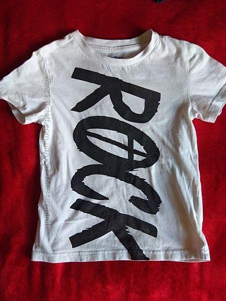 Белая футболка на рост 122-128, возраст 6-8 лет