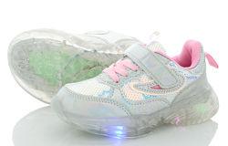 Кроссовки LED со светящейся подошвой для девочки размеры 26-32
