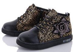 Детские демисезонные ботинки хайтопы для девочки р.31-36 маломерят