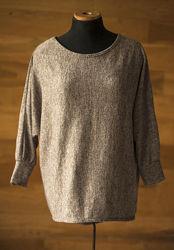 серо-коричневый джемпер в стиле casual, кофта today, размер s