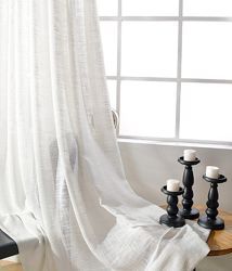 Шикарная тюль фактурный лен. Пошив