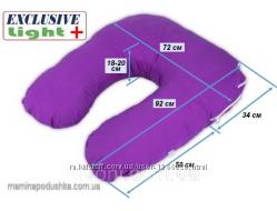Подушка для беременных и кормящих Light Plus, Наволочка на выбор
