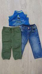 Двое штанишек на мальчика.