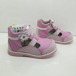 Туфли кожаные для девочки Little Deer 16 см.