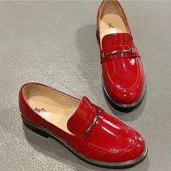 Лаковые туфли лоферы в школу - Evie Shoes p.33, 22 см