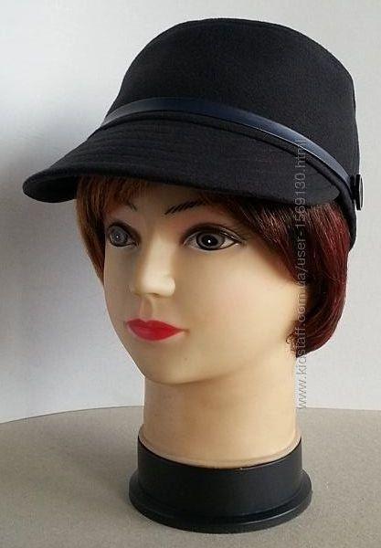 Кепка женская, кадетская кепка. Темно - синий кашемир.