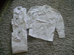Новые белые рубашки на 78лет качественные