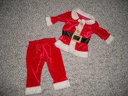 Новогодний костюм санта на 2-6мес